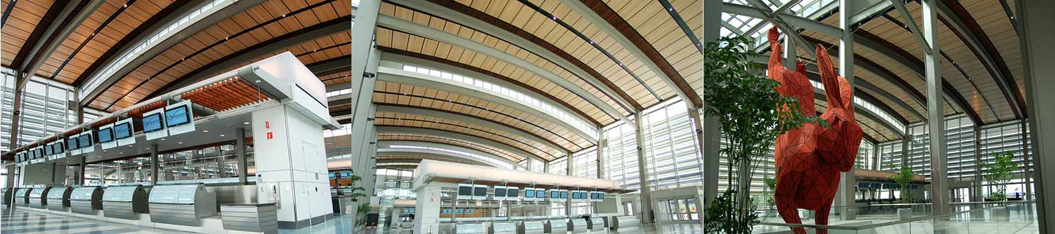 9wood Acoustic Ceilings / SAC International Airport